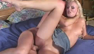 Black haired wanton slut Ariana Jollee enjoys nasty 3 some with spoiled blonde dirt and kinky chap