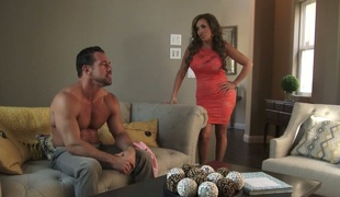 Busty whore Phoenix Marie takes part in crazy 3some scene