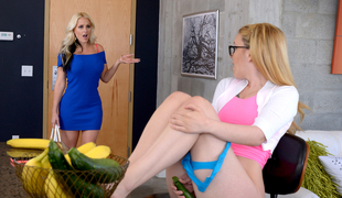 Alena Croft & Haley Mae in Right Down The Muff - MomsLickTeens