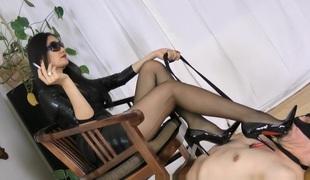 amatør brunette fetish par hd femdom rett